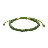Men‰۪s Indonesian Beaded Bracelet in Green by Jan Leslie