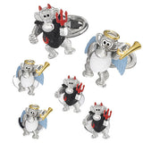 Angel and Devil Monkey Tuxedo Formal Set – Cufflinks and Studs by Jan Leslie