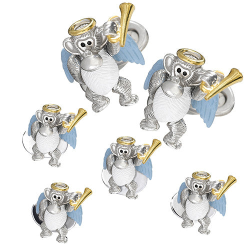 Angel Monkey Tuxedo Formal Set – Cufflinks and Studs by Jan Leslie