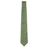 Olive Signature Silk Sailboat Necktie by Jan Leslie