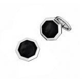Black Onyx Octagon Gemstone Cufflinks  by Jan Leslie