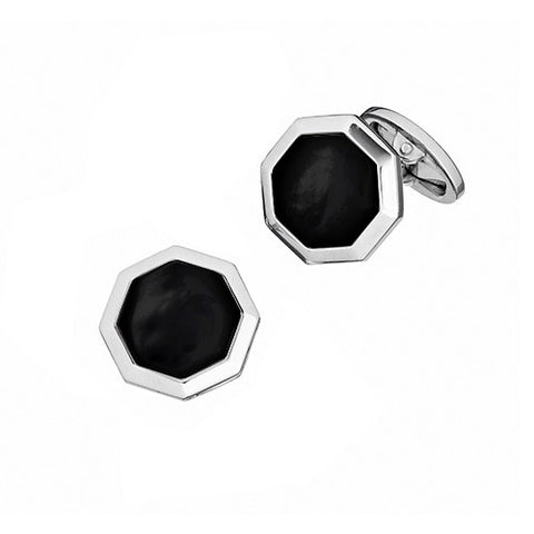 Octagon Gemstone Cuff Links