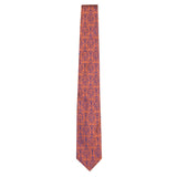 Orange Signature Silk Lion Necktie by Jan Leslie
