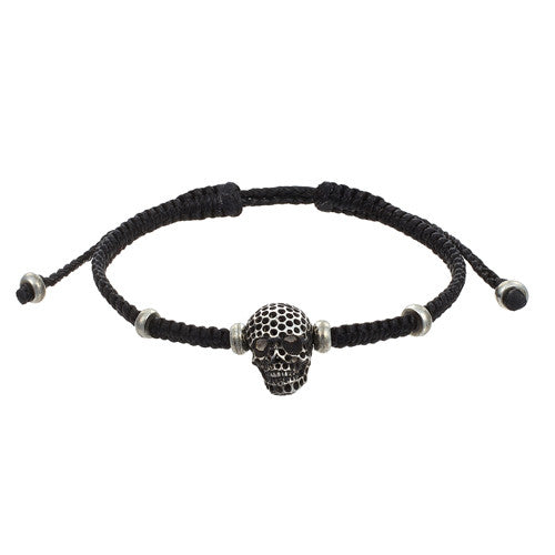 Oxidized Brass Men‰۪s Skull Bracelet by Jan Leslie
