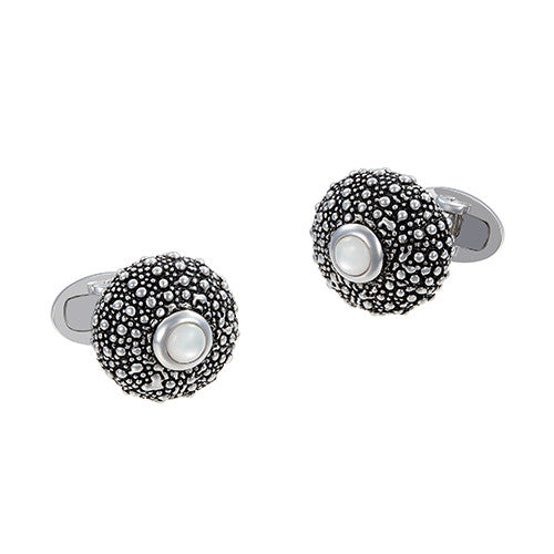 Sea Urchin Cufflinks with Black Onyx Accents by Jan Leslie