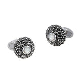 Sea Urchin Cufflinks with Mother of Pearl Accents by Jan Leslie