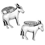 Sterling Silver Donkey Cufflinks by Jan Leslie