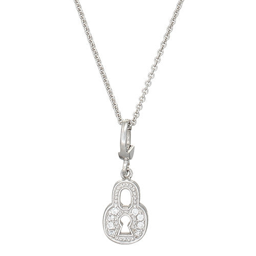 Sterling Silver Heart Lock Necklace by Jan Leslie