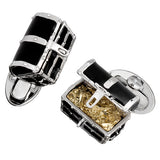 Black Treasure Chest Cufflinks by Jan Leslie