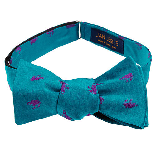 Signature Turquoise Frog Bowtie by Jan Leslie