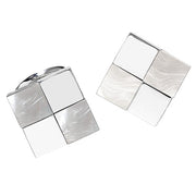 Gemstone Checkered Cufflinks - Jan Leslie Cufflinks and Accessories