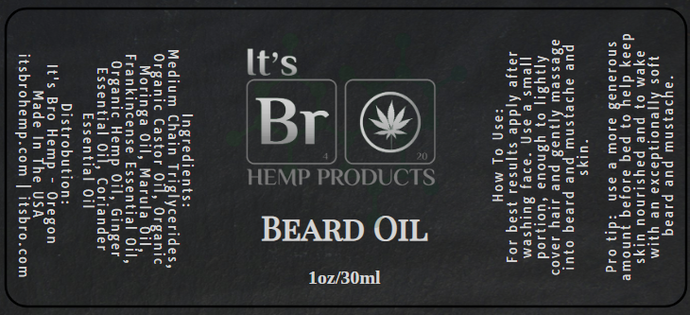 Men's Beard Products With Hemp as an Ingredient