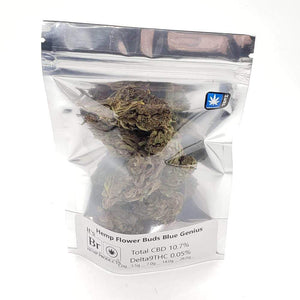 Blue Genius Hemp In Heat Sealed Bag