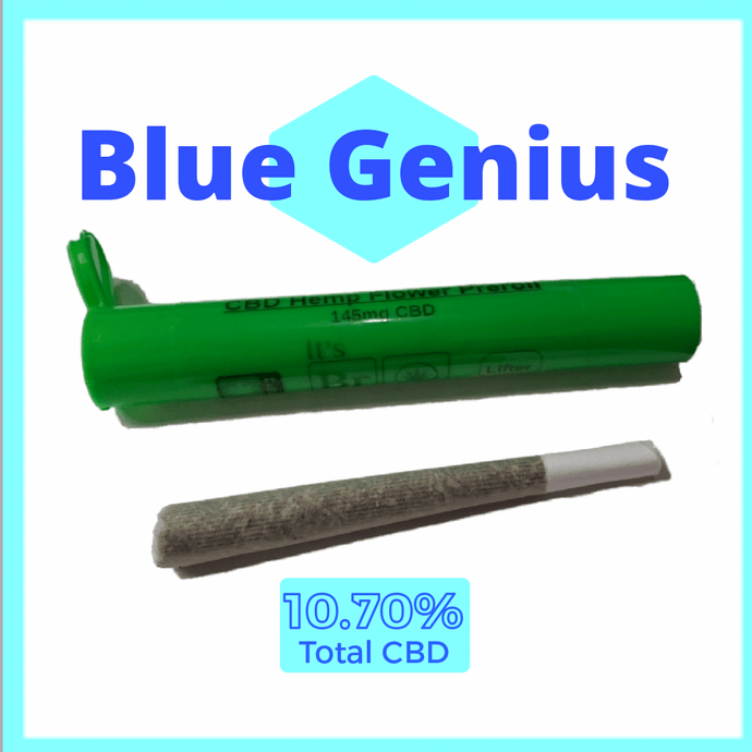 Blue Genius Hemp Flower Pre Roll Cones - Single