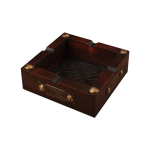 Square Wood Ashtray