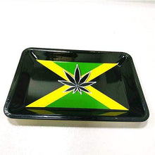 Load image into Gallery viewer, Cannabis Hemp Leaf Rolling Tray