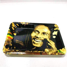 Load image into Gallery viewer, Bob Marley laughing Rolling Tray