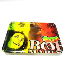 Load image into Gallery viewer, Bob Marley Lion and Flag Rolling Tray