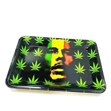 Load image into Gallery viewer, Bob Marley Cannabis Leaf Rolling Tray