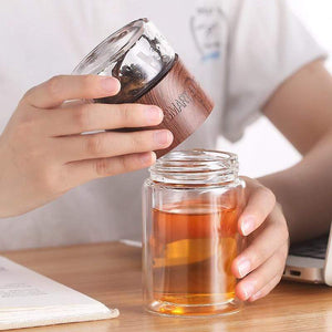 Glass Double Wall Bottle and Tea Infuser