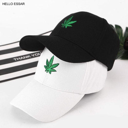 Hemp Leaf Image Dad Cap