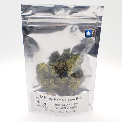 T2 Trump Hemp Flower In Package