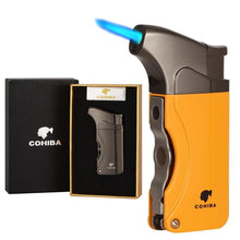 Load image into Gallery viewer, Windproof Lighter Refillable Single Torch Jet Flame - Cohiba