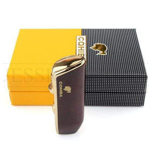 Windproof Triple Flame Torch Lighter - Cohiba