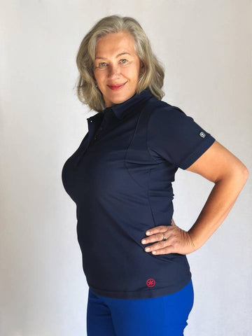 Navy Woman's Golf Polo