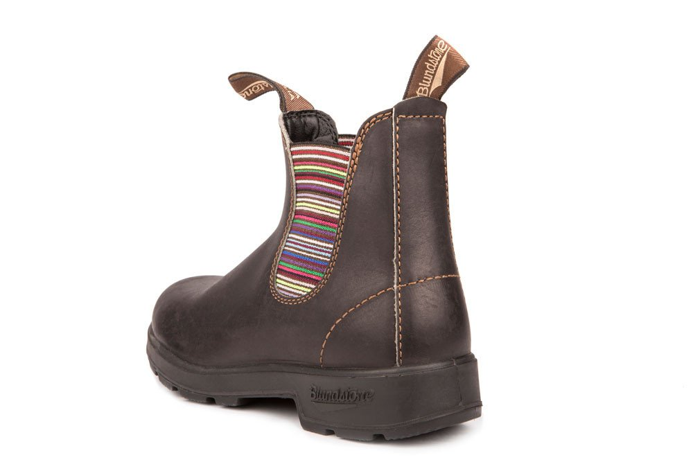 Blundstone 1409 - The Original in Stout Brown with Striped Elastic