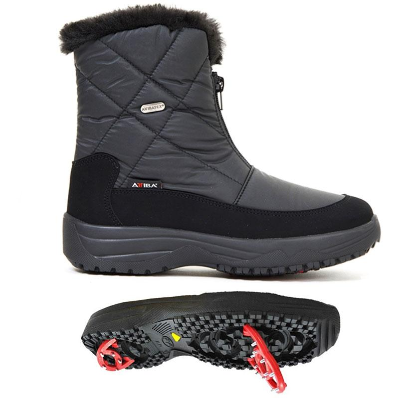 TONY SHOES ATTIBA BOOTS, WINTER BOOTS WITH PIVOTING GRIPS, ANTI-SLIP BOOTS, ATTIBA WINTER BOOTS
