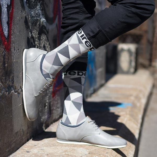 TONY SHOES REBEL FUNKY SOCKS GREY