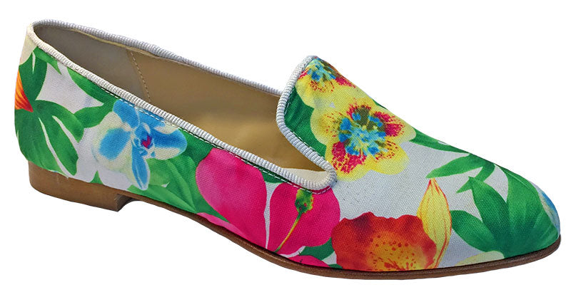 giancarlo flower print flat shoe b0721