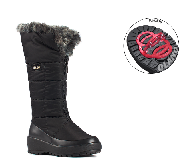 TONY SHOES OLANG BARBARA WITH PIVOTING CRAMPONS, OLANG WINTER BOOTS, ANTI-SLIP BOOTS