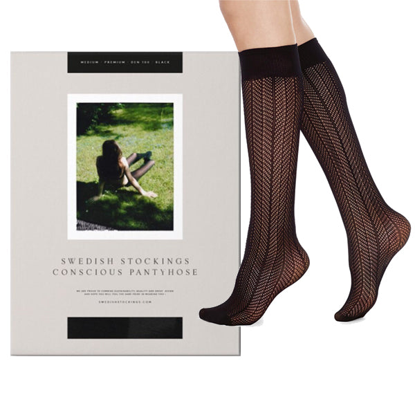 SWEDISH STOCKINGS ASTRID FISHNET KNEE-HIGH