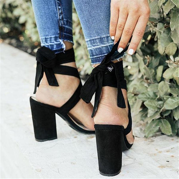 Fashion Versatile Strappy High Heel Sandals
