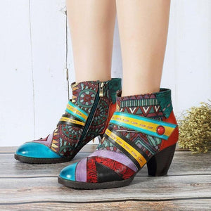 Fashion Handmade Leather Women's Boots