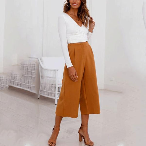 Fashion High Waist Comfortable Wide Leg Pants