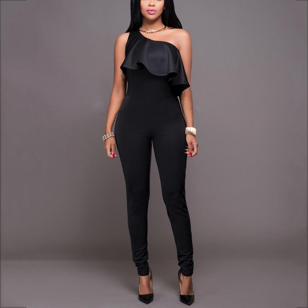Sexy One Shoulder Sleeveless Jumpsuit
