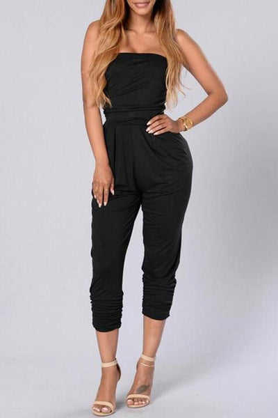 Sexy Off Shoulder Sleeveless Jumpsuit