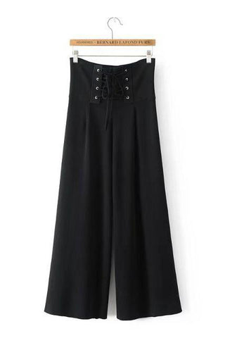 Fashion High Waist Blinding Knit Wide Leg Pants