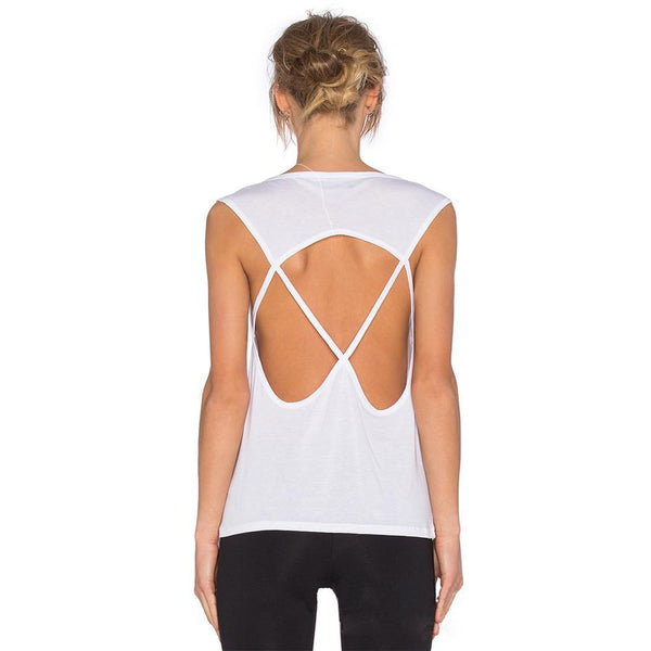 Sexy Open Back Knit T-Shirt