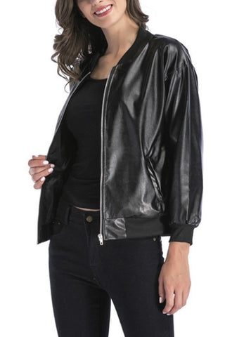 Band Collar  Plain  Basic Jackets