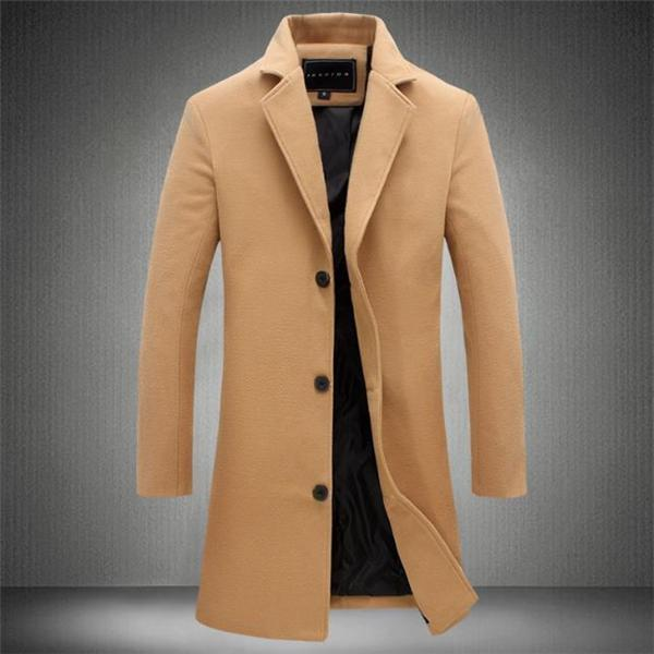 Business Fashion Slim Solid Color Long Sleeve Men Suit Outerwear