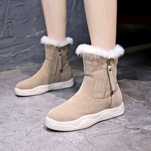 Fashion Anti-Slip Suede Flat Boots