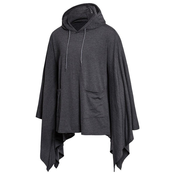 Fashion Loose Plain Packets Cloak Shirt With Hat