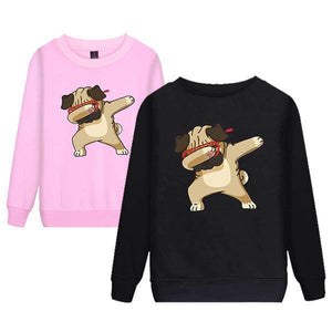Men's Hip Hop Dog Shar Pei Couple Hooded