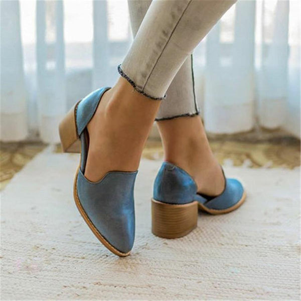 Fashion Rough   With Retro Versatile High Heels