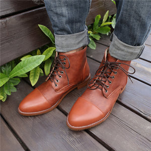 Men's Fashion   Vintage Pointed Boots
