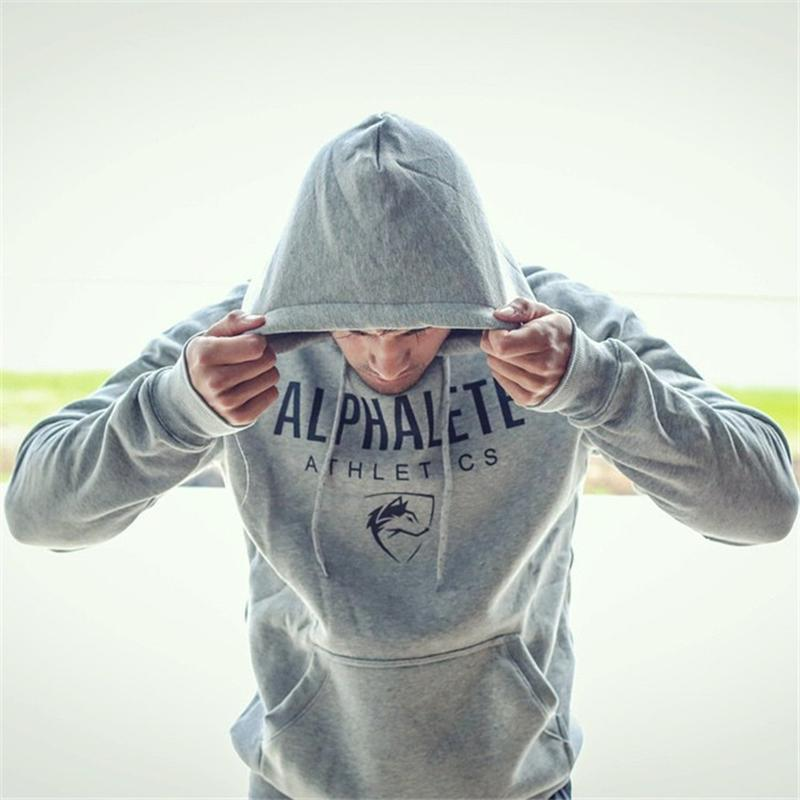 Men Gyms Hoodies Gyms Fitness Bodybuilding Sweatshirt Crossfit Pullover Sportswear